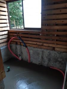 浴室コンクリート打設