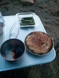 キャンプ餃子